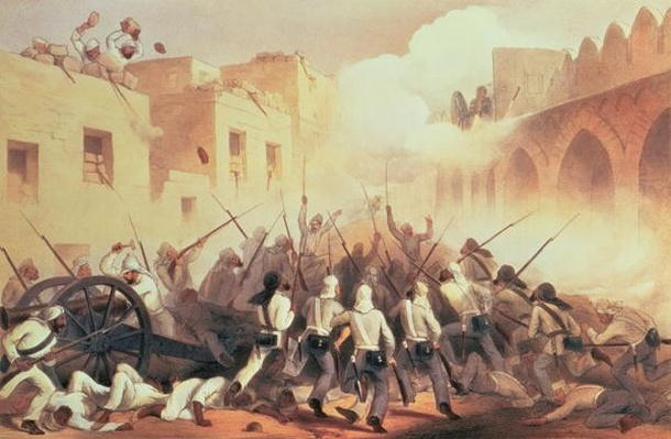Storming of Delhi in 1857, from 'The Campaign in India, 1857-8', engraved by George McCulloch