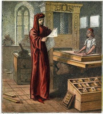 William Caxton 1422-1491, first English printer | Pre-Industrial Revolution Inventors and Inventions