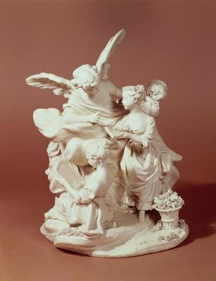 The Education of Love, Sevres group, after Boucher, 1763