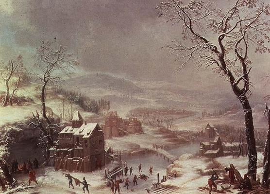 Winter scene near River Flustal