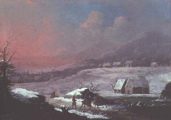 German Winter Landscape, 18th century