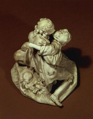 The Kiss, Sevres group, after Boucher, 1765