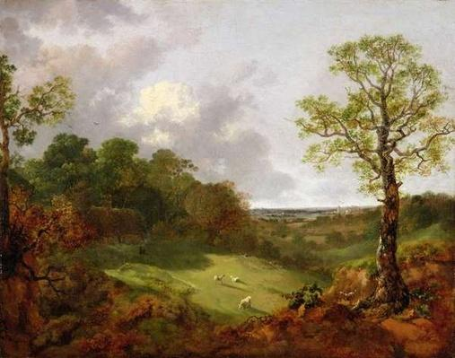 Wooded Landscape with a Cottage, Sheep and a Reclining Shepherd, c.1748-50