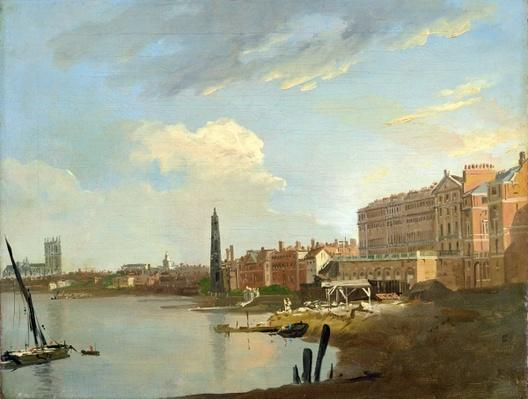 A Study of the Thames with the Final Stages of the Adelphi, 1772