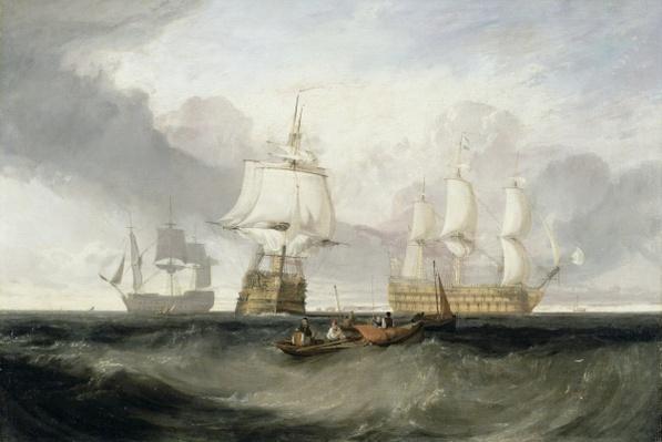 The 'Victory' Returning from Trafalgar, 1806
