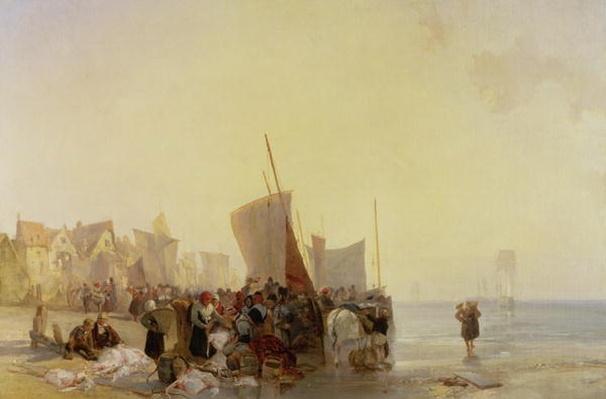 A Fishmarket Near Boulogne, c.1824