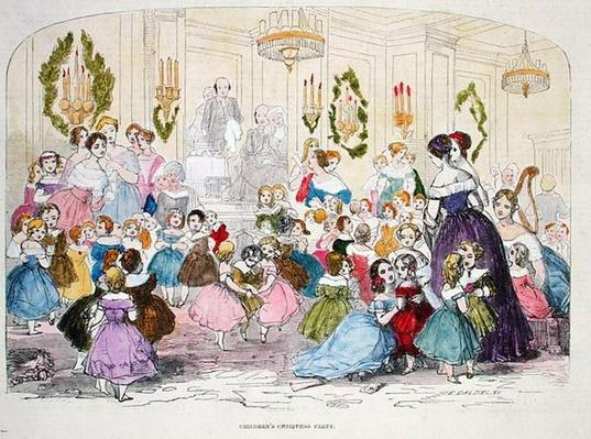 Children's Christmas Party, engraved by Edward Dalziel