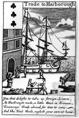 Trade at Harborough, English playing card
