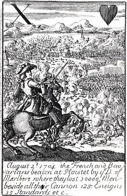 The Duke of Marlborough Defeats the French and Bavarians at the Battle of Blenheim, 2 August 1704, English playing card