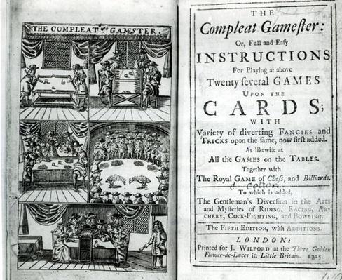 Title page of the fifth edition of 'The Compleat Gamester', attributed to Charles Cotton