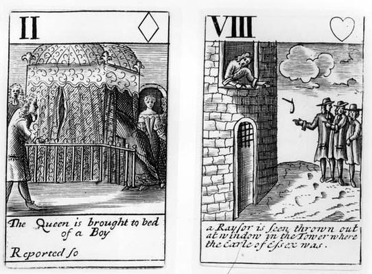 Elizabethan English playing cards