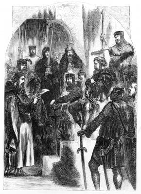 Wallace Crowned with Laurel in Westminster Hall