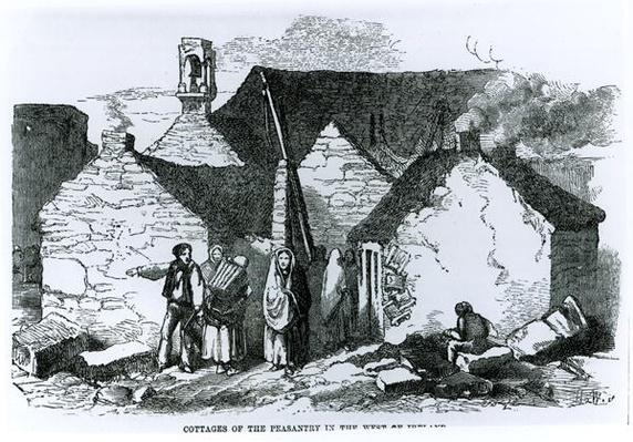 Cottages of the Peasantry in the West of Ireland