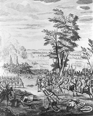 Battle of Malplaquet, 11th September 1709, from the 'History of Queen Anne', 1740