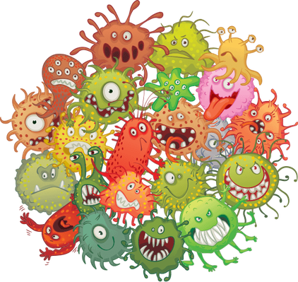 The accumulation of bacteria | Health and Nutrition