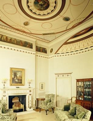 The Etruscan Room designed by Robert Adam in the neo-classical style, 1777