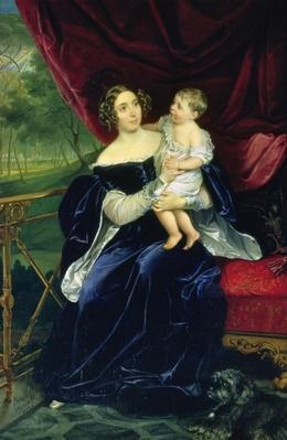 Countess Olga Ivanovna Orlov-Davydov with her daughter, 1834