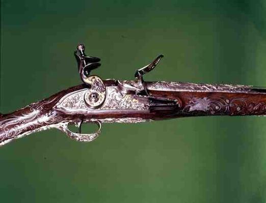 Air gun, by J.G. Kolbe, c.1750