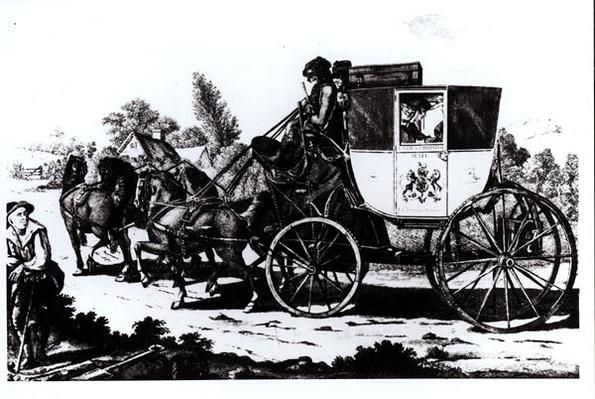 The First Mail Coach, 1784