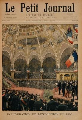 Inauguration of the Universal Exhibition of 1900, Paris, illustration from 'Le Petit Journal', 29th April 1900