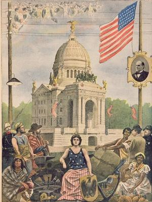 The American pavilion at the Universal Exhibition of 1900, Paris, illustration from 'Le Petit Journal', supplement illustre, 15th April 1900