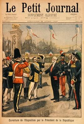 Opening of the Universal Exhibition of 1900 by the President of the Republic, Paris, illustration from 'Le Petit Journal', 22nd April 1900