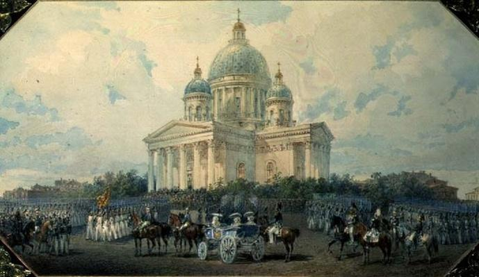 The Trinity Cathedral in St. Petersburg, 1850, 1850
