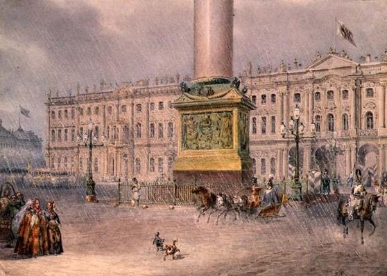 Palace Square in St. Petersburg, 1830s