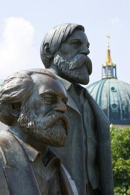 Statue of Karl Marx and Friedrich Engels, Berlin, Germany | Famous Philosophers