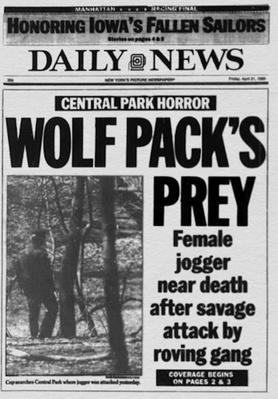 April 21, 1989: The Front Page of the New York Daily News | Ken Burns: The Central Park Five