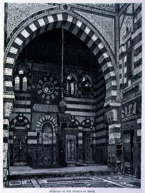 Interior of the Mosque at Ezbek, 19th century