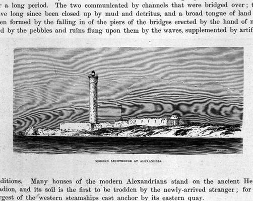 The Modern Lighthouse at Alexandria, 19th century