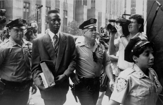 Yusef Salaam Walks into Court Flanked by Police and Press | Ken Burns: The Central Park Five