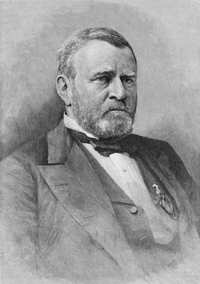 General Ulysses Simpson Grant, engraved from a photograph (engraving) by Brady, Mathew (1823-96) (after)