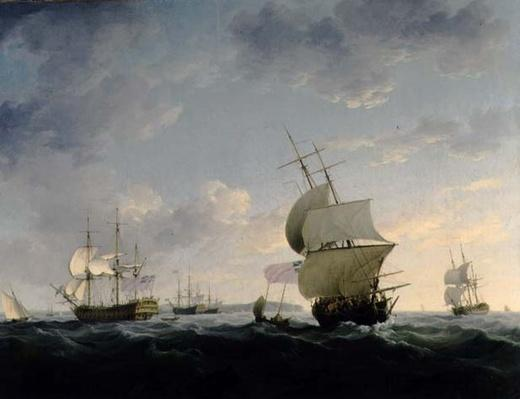 Shipping in the English Channel, c.1755