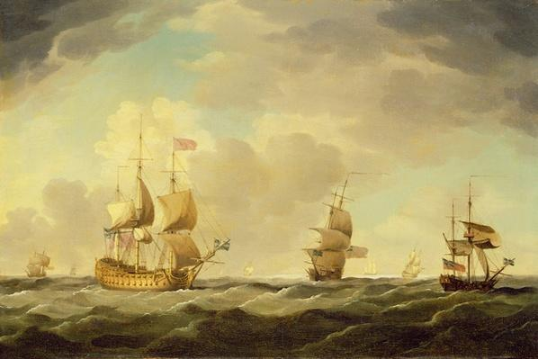 An English Flagship Under Easy Sail in a Moderate Breeze, c.1750