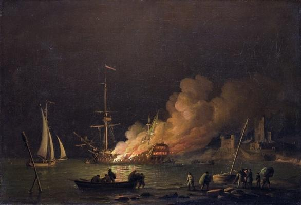 Ship on Fire at Night, c.1756