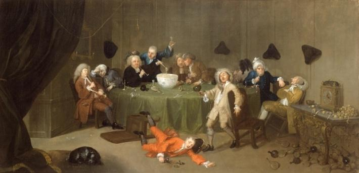 A Midnight Modern Conversation, c.1732
