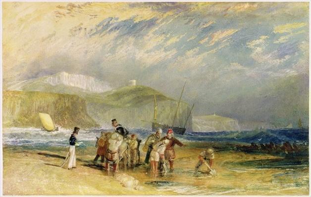 Folkestone Harbour and Coast to Devon, c.1830