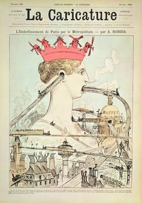 The Improvement to Paris by the Metro, from 'La Caricature', 19th June 1886