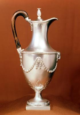 Chocolate-pot, with repousse design and chasing, Adam style, 1773-4