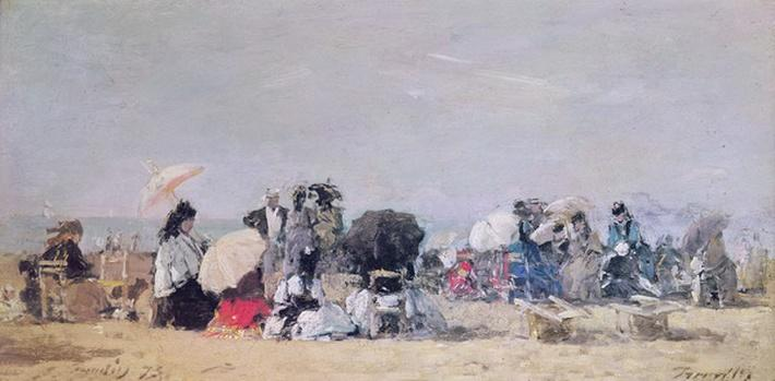 Beach Scene, Trouville, 1873