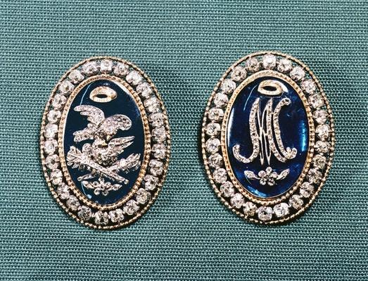Bracelet clasps, late 18th century