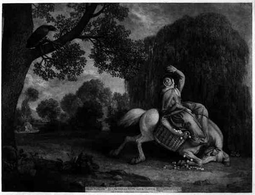 The Farmer's Wife and the Raven, engraved by the artist, pub. 1788