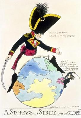 A Stoppage to a Stride over the Globe, 1803