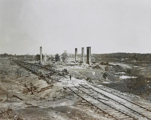 Confederate General Hood's Ordnance Train, Atlanta, 1864  | Ken Burns: The Civil War