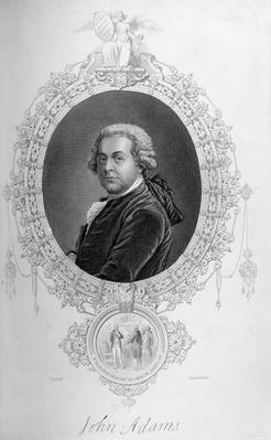 John Adams, from 'The History of the United States', Vol. I, by Charles Mackay, engraved by Stephenson (engraving) by Copley, John Singleton (1738-1815) (after)