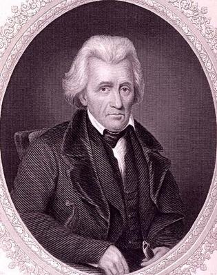 Andrew Jackson, from 'The History of the United States', Vol. II, by Charles Mackay, engraved by W.J. Edwards (engraving) by Dodge, John Wood (1807-93) (after)