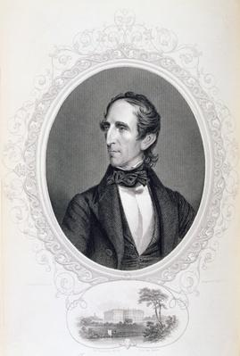John Tyler, from 'The History of the United States', Vol. II, by Charles Mackay, engraved C. Holl (engraving) by Fenderich, Charles (1805-87) (after)