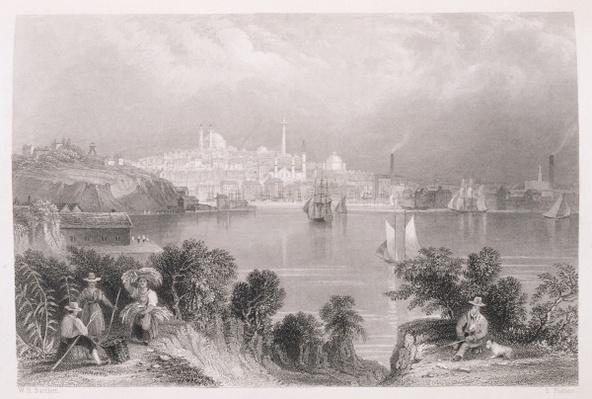 A View of Baltimore, from 'The History of the United States', Vol. II, by Charles Mackay, engraved by S. Fisher